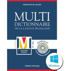 Multidictionnaire de la langue française, cinquième édition - PC