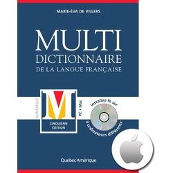 Multidictionnaire de la langue française, cinquième édition – Macintosh