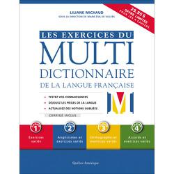 Les Exercices du Multidictionnaire de la langue française - 4 cahiers
