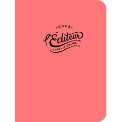 Cahier de notes Chez l'Éditeur (corail)